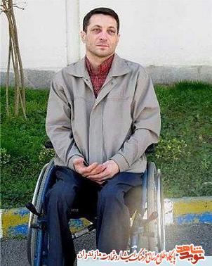 مراسم وداع و تشییع پیکر جانباز شهید «سید مصطفى علمدار»